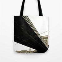 budapest Tote Bags featuring Budapest by Javier Sánchez