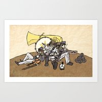 Music Soldiers Art Print