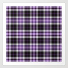 Purple Plaid Art Print