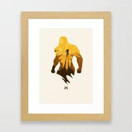 Javelin Yellow Framed Art Print