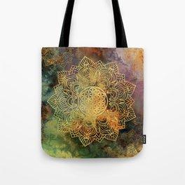 Flower Of Life Batik Tote Bag