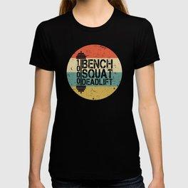 1000 Pounds Bench Squat Deadlift Powerlift Club Fitness Bodybuilder Bodybuilding Vintage Retro T-shirt