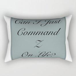 Command Undo Rectangular Pillow