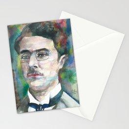 FERNANDO PESSOA - watercolor portrait.3 Stationery Cards