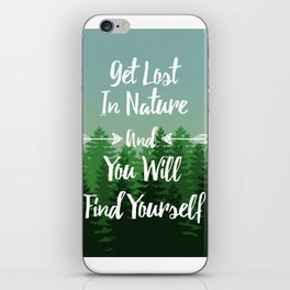 Lost In Nature - Green iPhone Skin