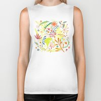 tropical Biker Tanks featuring Tropical by Nic Squirrell