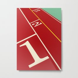 Running Track 123 Metal Print