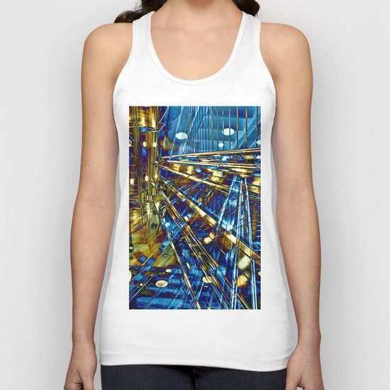 Blue Lines of Berlin Unisex Tank Top