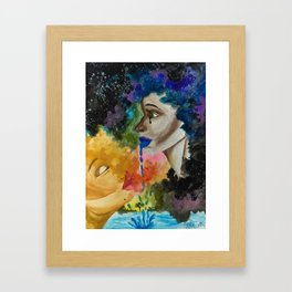 teared Framed Art Print