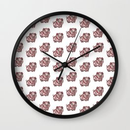 So ManyPiggy Piggy Oink Oinks - Cute Pigs - Abstract Shapes Wall Clock