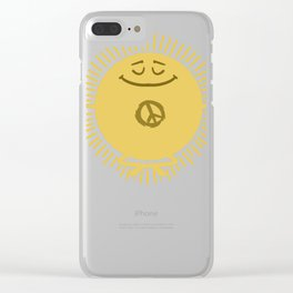 Peace Gift idea Harmony Reconciliation Clear iPhone Case