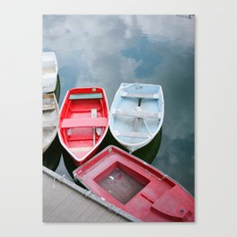 Coastal Boats in Marblehead, MA | Film Photography Canvas Print