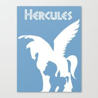 hercules Canvas Prints featuring Hercules by Citron Vert