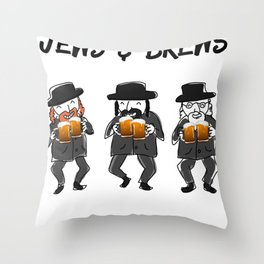 Jews Booze and Brews Throw Pillow