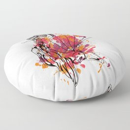 Secrets of the Geisha - Beautiful Chinese Girl Floor Pillow