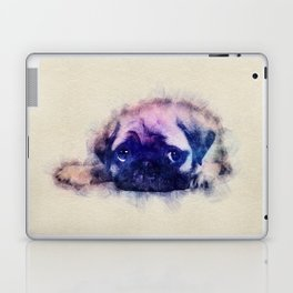 Pug puppy Sketch  Digital Art Laptop & iPad Skin