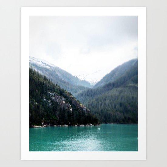 Blue Layers Art Print