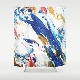 Bluebird's Spilled Tea Shower Curtain
