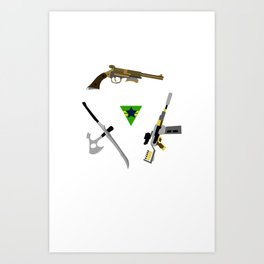 the weapons of firefly Art Print