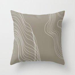 Interrupted Flow Throw Pillow