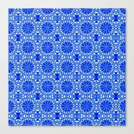 Sapphire Blue Star Canvas Print