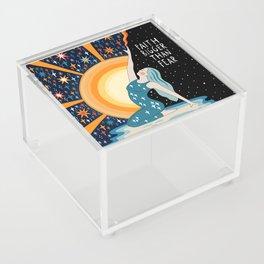 Faith bigger than fear Acrylic Box