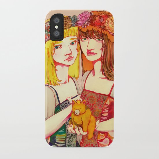 Snow White and Rose Red iPhone Case