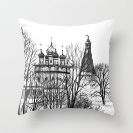 Iossifo-Volotsky Monastery SK02P Throw Pillow