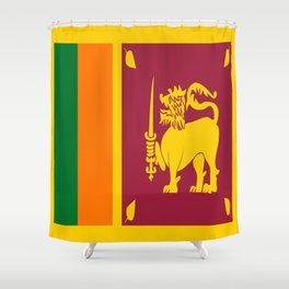 Flag of sri Lanka -ceylon,India, Asia,Sinhalese, Tamil,Pali,Buddhist,hindouist,Colombo,Moratuwa,tea Shower Curtain