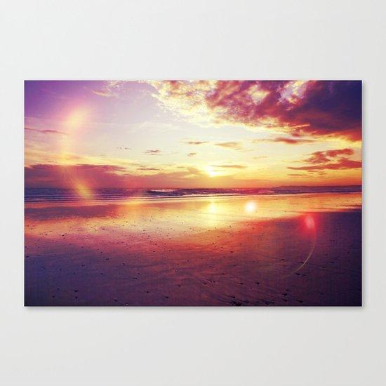 Tropical sunset on a calm beach Canvas Print