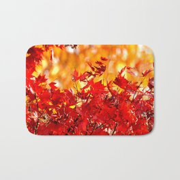 RED AND ORANGE AUTUMN Bath Mat