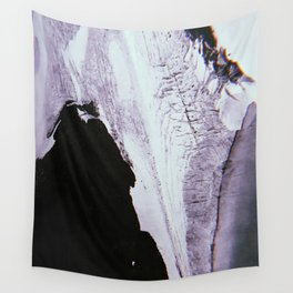 Slipping Away: an abstract mixed-media piece in black and white by Alyssa Hamilton Art Wall Tapestry