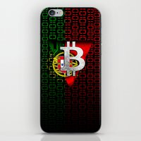 portugal iPhone & iPod Skins featuring bitcoin Portugal by seb mcnulty
