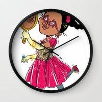 fancy Wall Clocks featuring Fancy by sheena hisiro