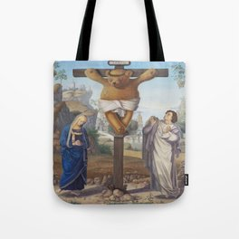 Cruci Teddy (Teddy of the Angels, King of the Teddy Bears) Tote Bag