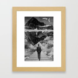 Black & White Collection -- Wandering Framed Art Print