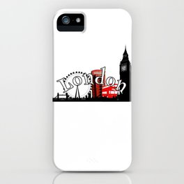 London Town logo design iPhone Case