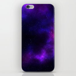 Purple Watercolor Galaxy iPhone Skin