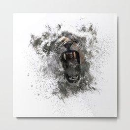 Abstract Lion Roar Metal Print