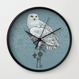 Secrets of the Snowy Owl Wall Clock