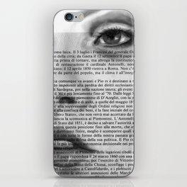 White Block I iPhone Skin