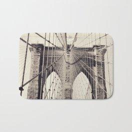 Brooklyn bridge, New York city, black & white photography, wall decoration, home decor, nyc fine art Bath Mat