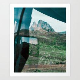 Mountains Through the Window Art Print