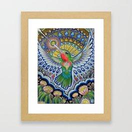 Hummingbird & Cactus - Beija Flor III Framed Art Print