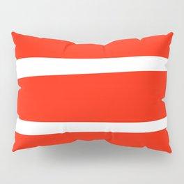 Red Stripes Pillow Sham