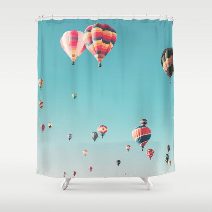 Hot Air Balloon Ride Shower Curtain By Scissorhaus