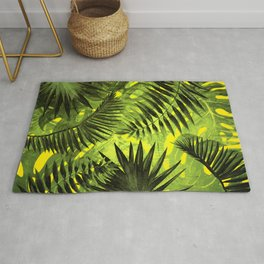 Tropical Leaves Aloha Jungle Garden Rug