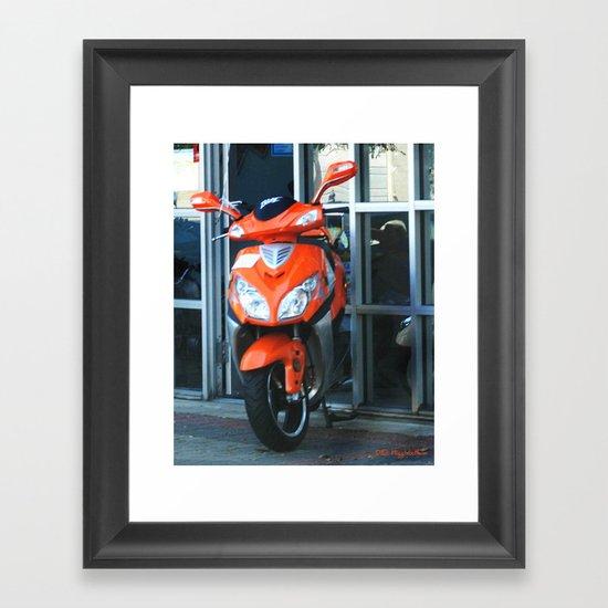 Crotch Rocket Framed Art Print