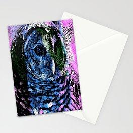 Rainbow Barred Owl Stationery Cards