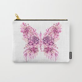 Flowery Pink Princess Butterfly Carry-All Pouch
